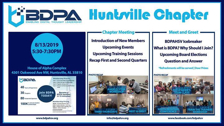 BDPA HSV Chapter Meeting – Meet and Greet