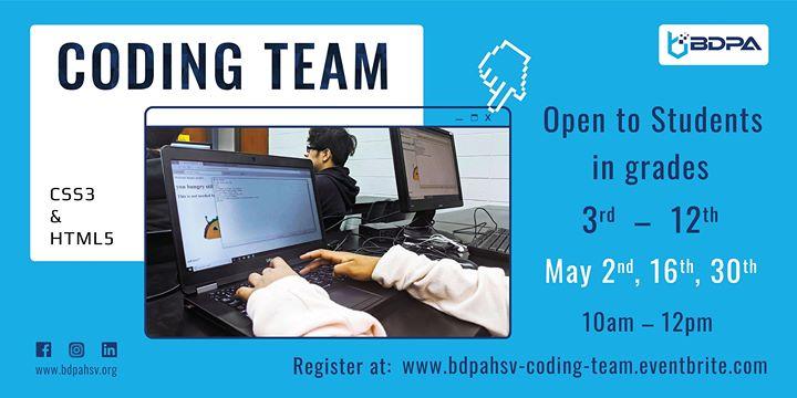 BDPAHSV Coding Team Training – May